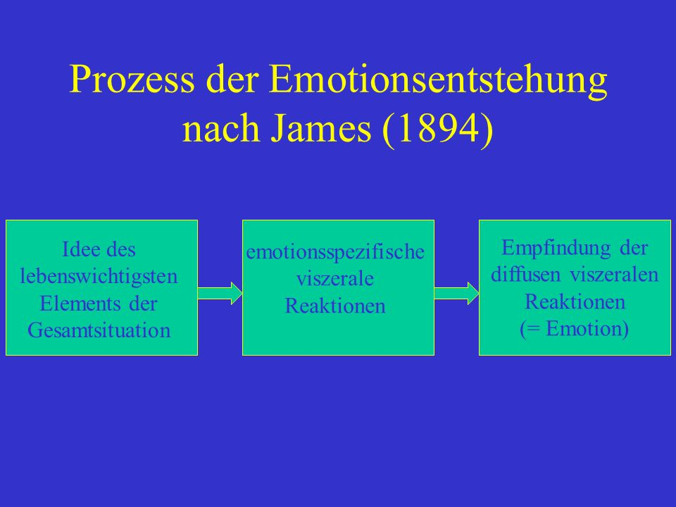 Prozess der Emotionsentstehung nach James (1894)