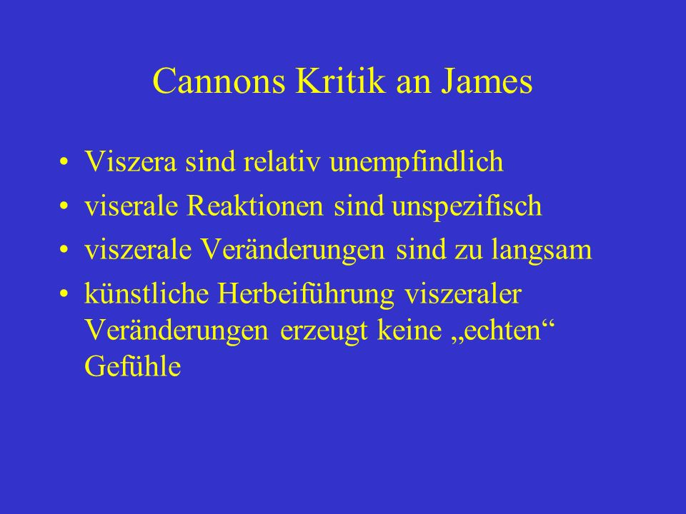Cannons Kritik an James