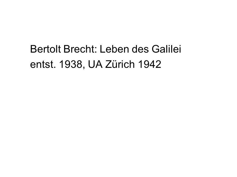 Bertolt Brecht: Leben des Galilei