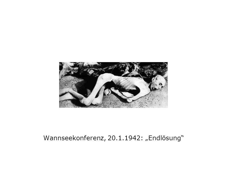 """Wannseekonferenz, 20.1.1942: """"Endlösung"""
