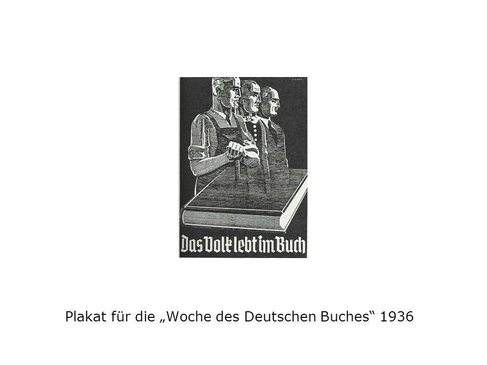 """Plakat für die """"Woche des Deutschen Buches 1936"""