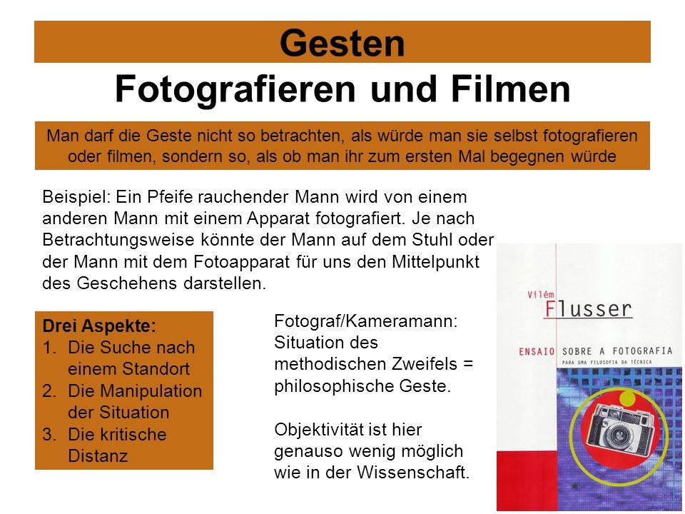 Gesten Fotografieren und Filmen