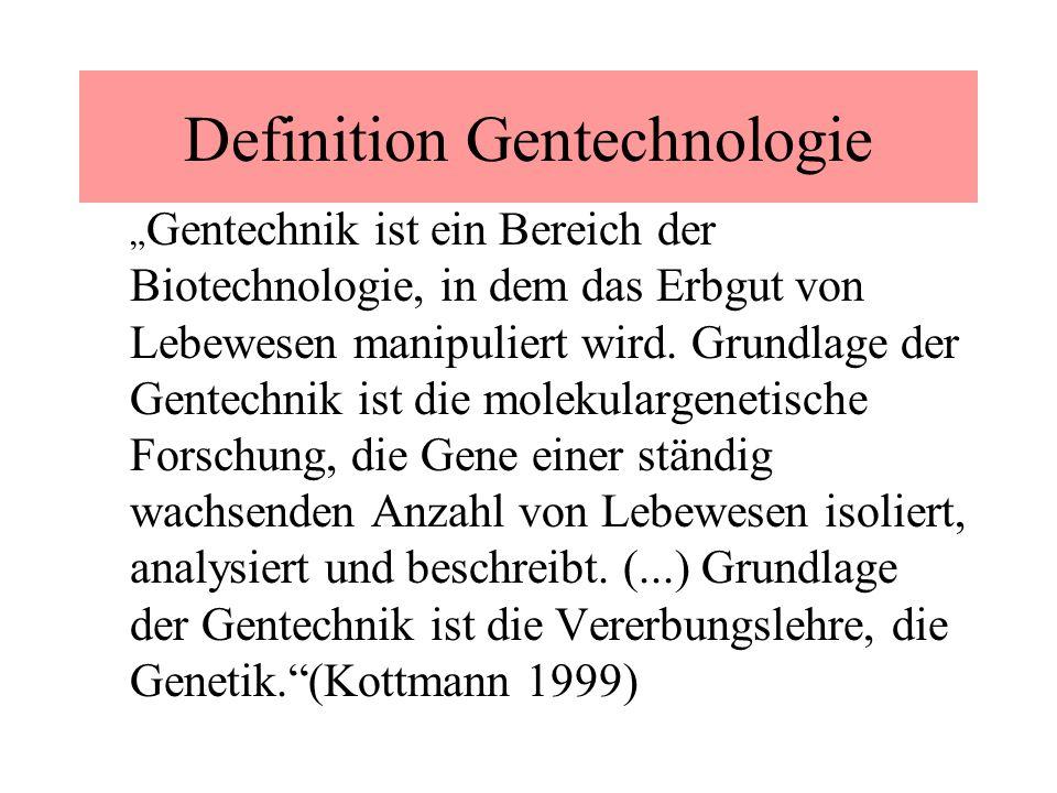 Definition Gentechnologie