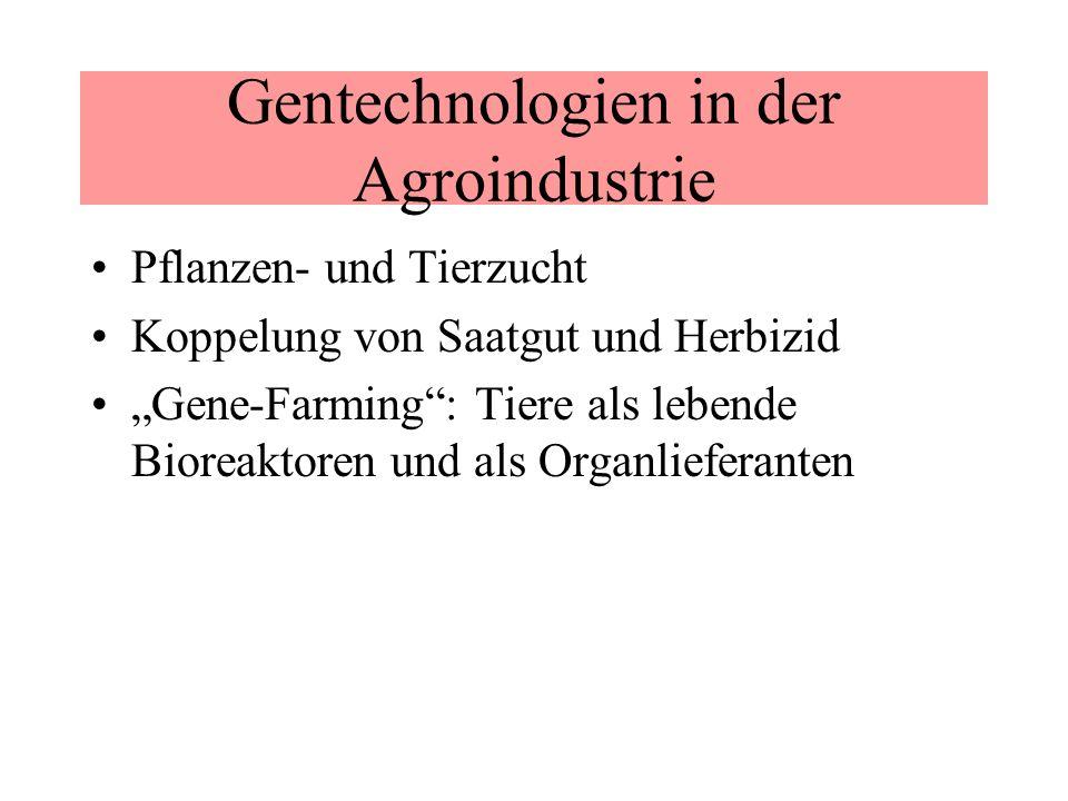 Gentechnologien in der Agroindustrie