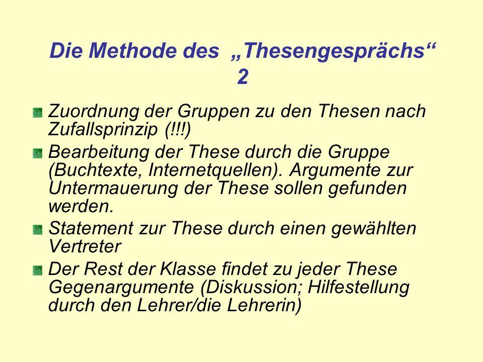 """Die Methode des """"Thesengesprächs 2"""