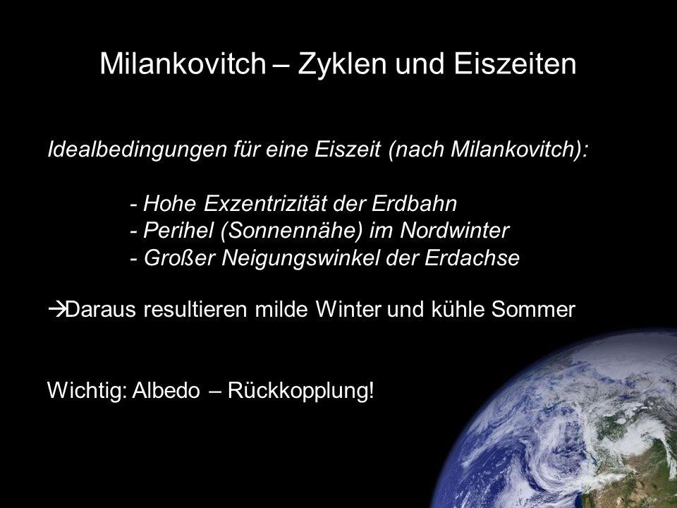 Milankovitch – Zyklen und Eiszeiten
