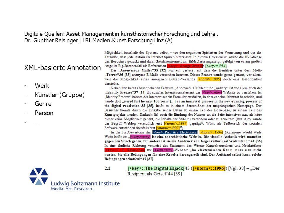 XML-basierte Annotation