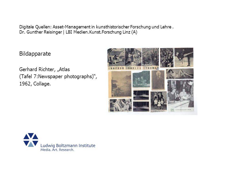 """Bildapparate Gerhard Richter, """"Atlas (Tafel 7:Newspaper photographs) ,"""