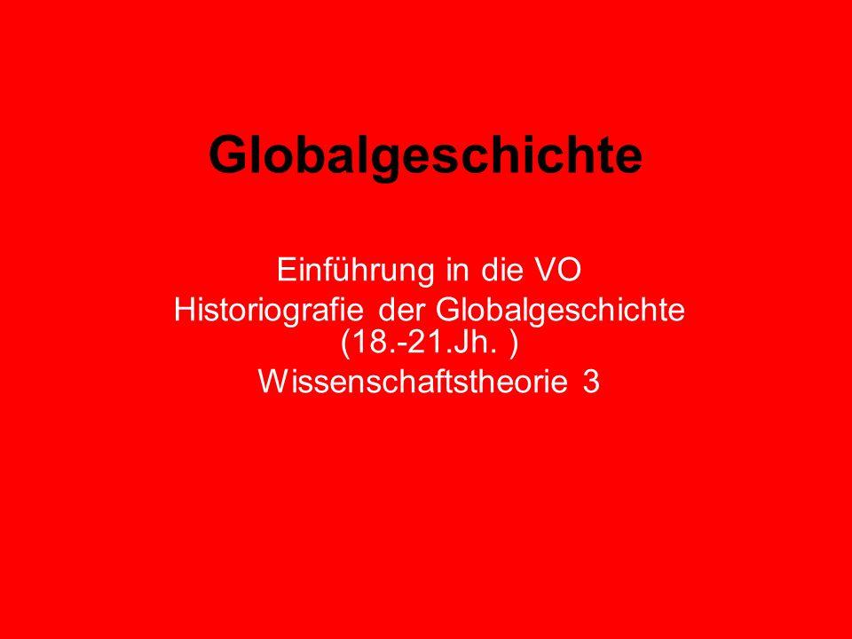 Globalgeschichte Einführung in die VO