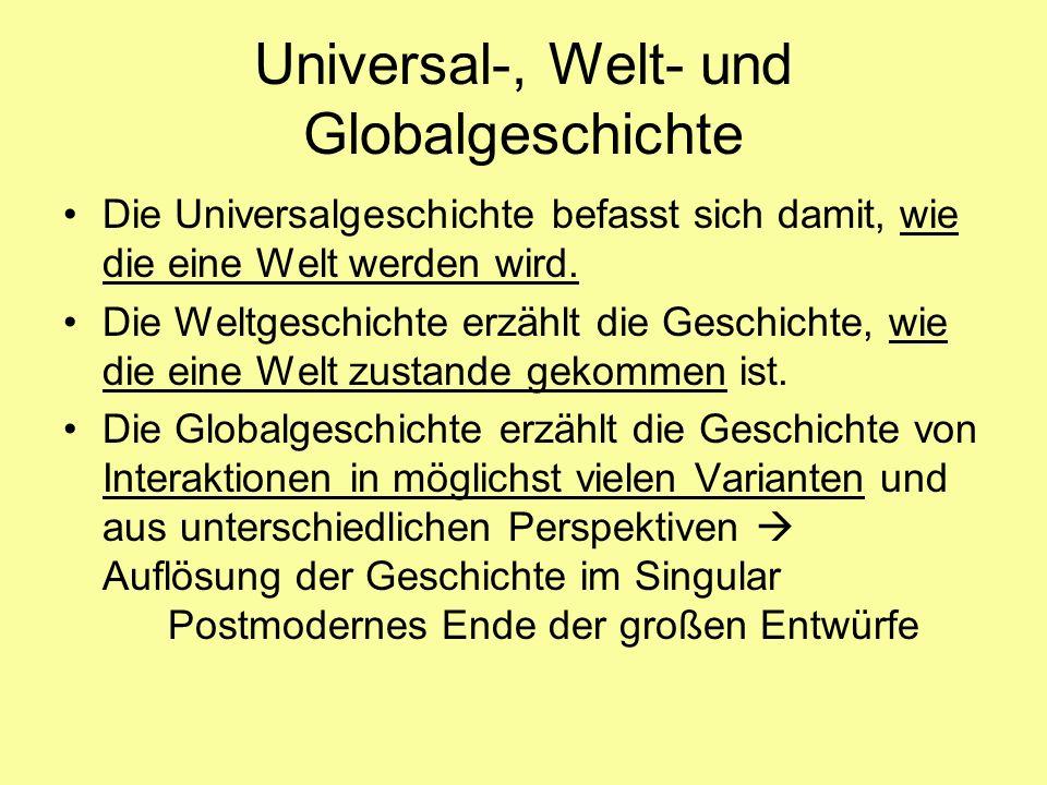 Universal-, Welt- und Globalgeschichte