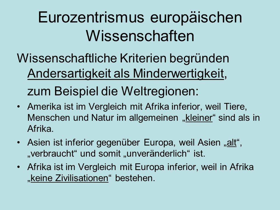 Eurozentrismus europäischen Wissenschaften