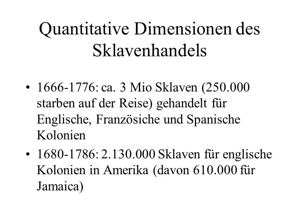 Quantitative Dimensionen des Sklavenhandels