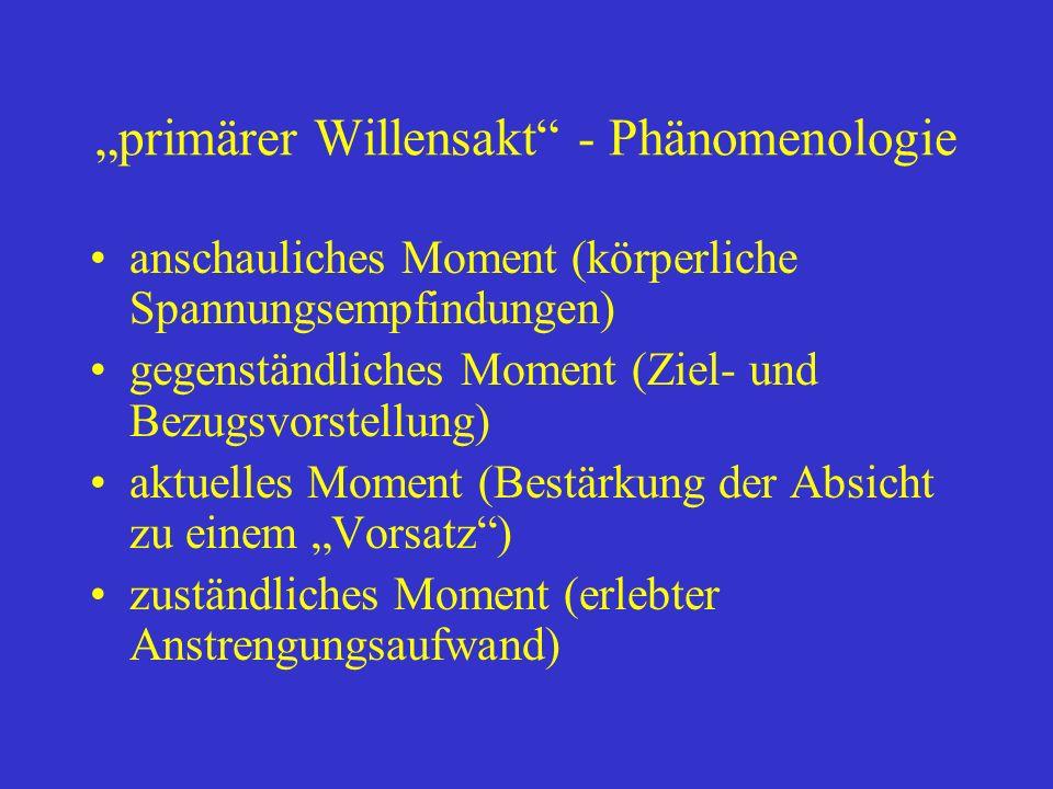 """""""primärer Willensakt - Phänomenologie"""