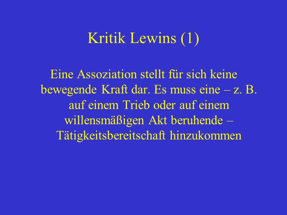 Kritik Lewins (1)