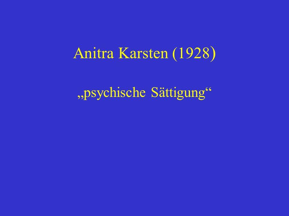 """""""psychische Sättigung"""