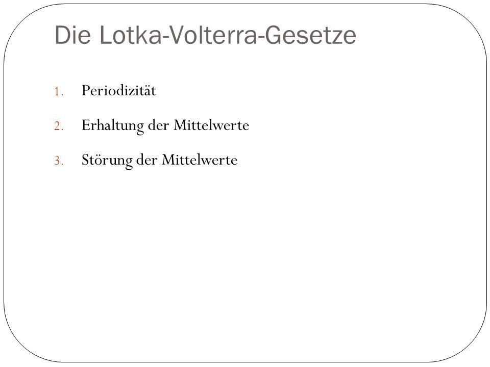 Die Lotka-Volterra-Gesetze
