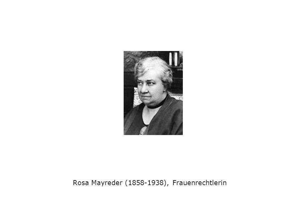 Rosa Mayreder (1858-1938), Frauenrechtlerin
