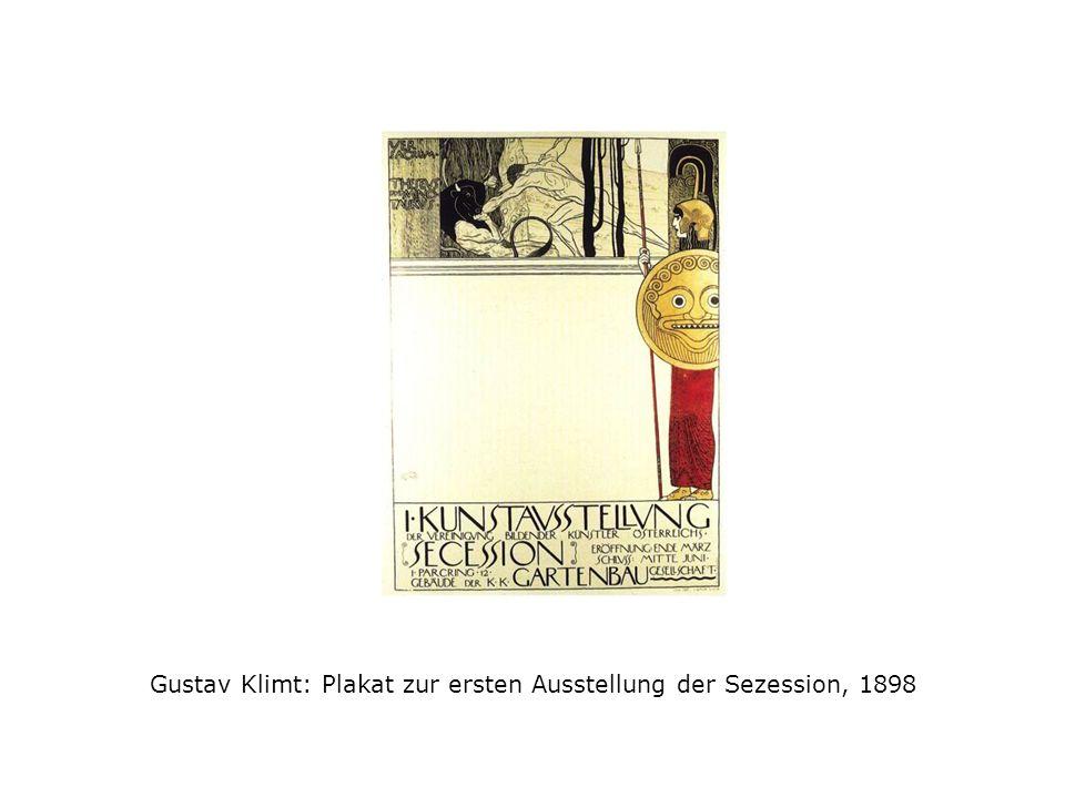 Gustav Klimt: Plakat zur ersten Ausstellung der Sezession, 1898