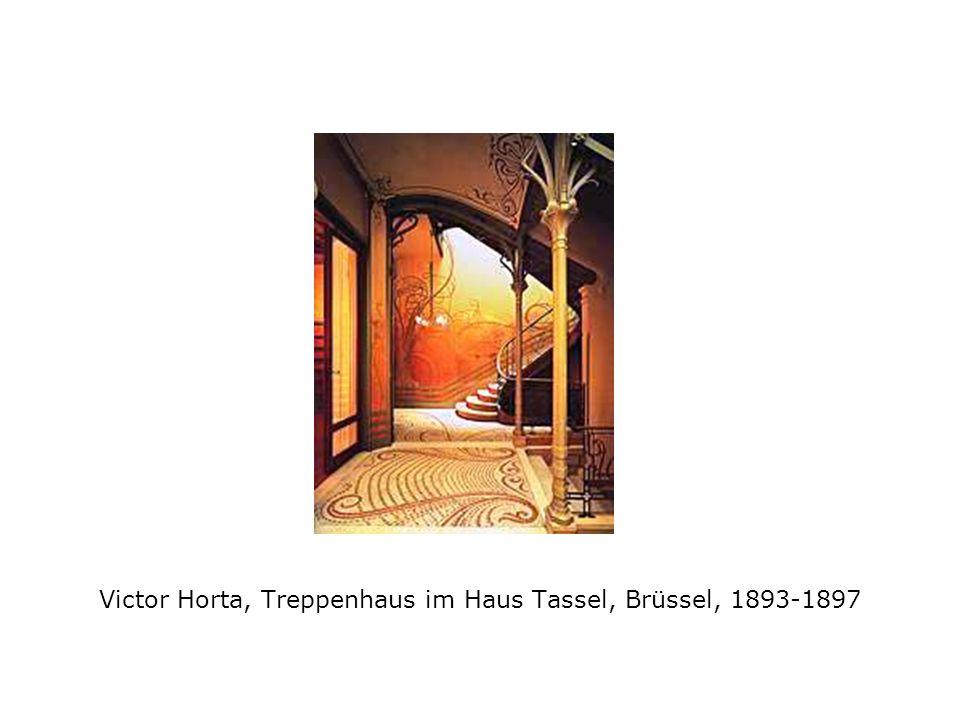 Victor Horta, Treppenhaus im Haus Tassel, Brüssel, 1893-1897