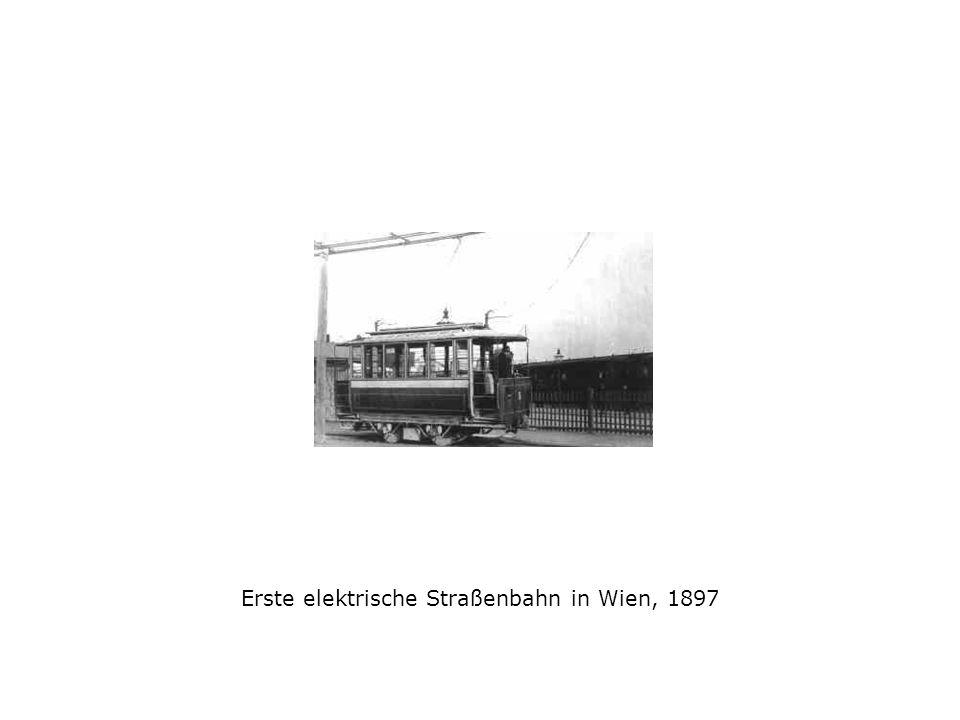 Erste elektrische Straßenbahn in Wien, 1897