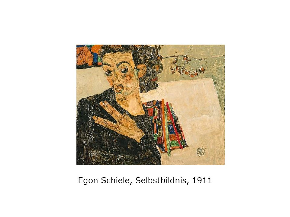 Egon Schiele, Selbstbildnis, 1911