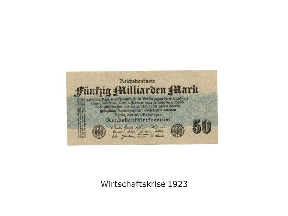Wirtschaftskrise 1923
