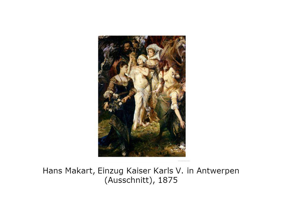 Hans Makart, Einzug Kaiser Karls V. in Antwerpen (Ausschnitt), 1875