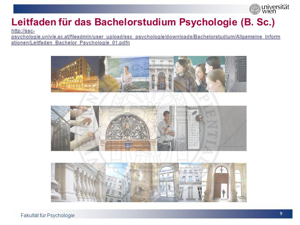 Leitfaden für das Bachelorstudium Psychologie (B. Sc