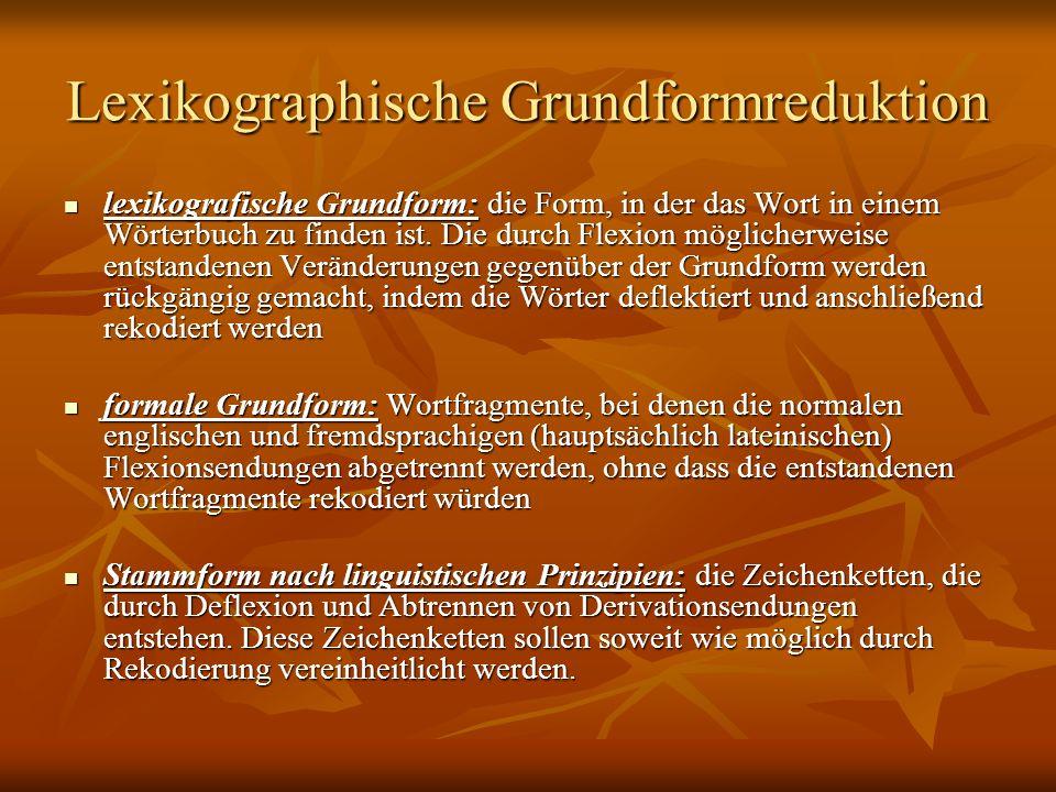 Lexikographische Grundformreduktion