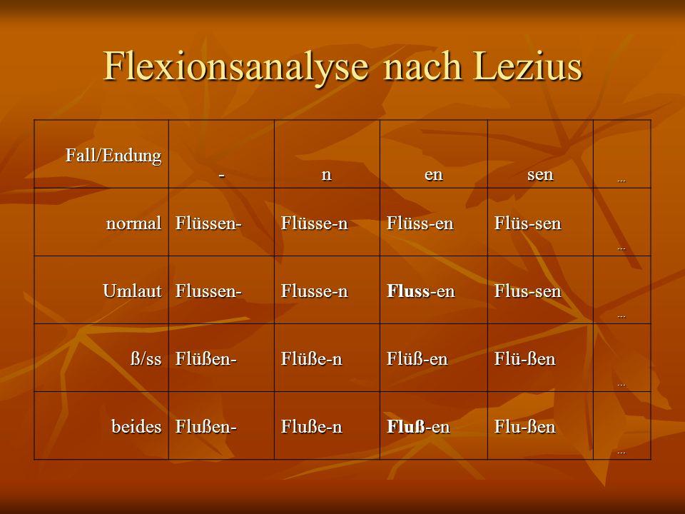 Flexionsanalyse nach Lezius