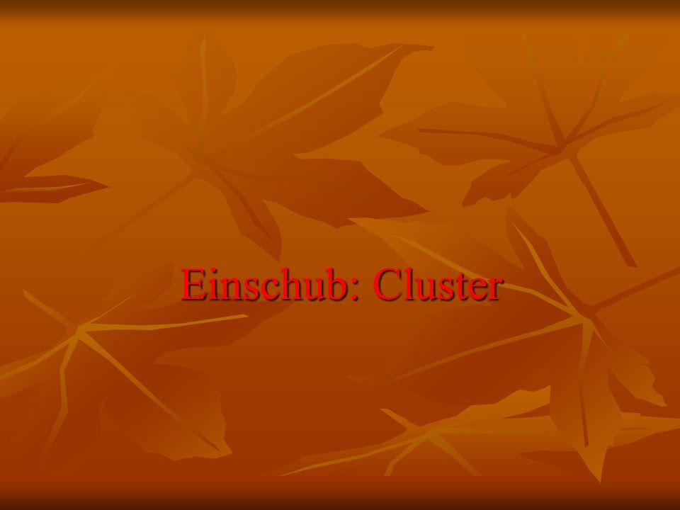 Einschub: Cluster