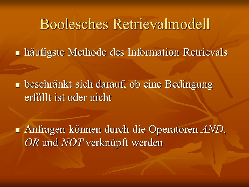 Boolesches Retrievalmodell