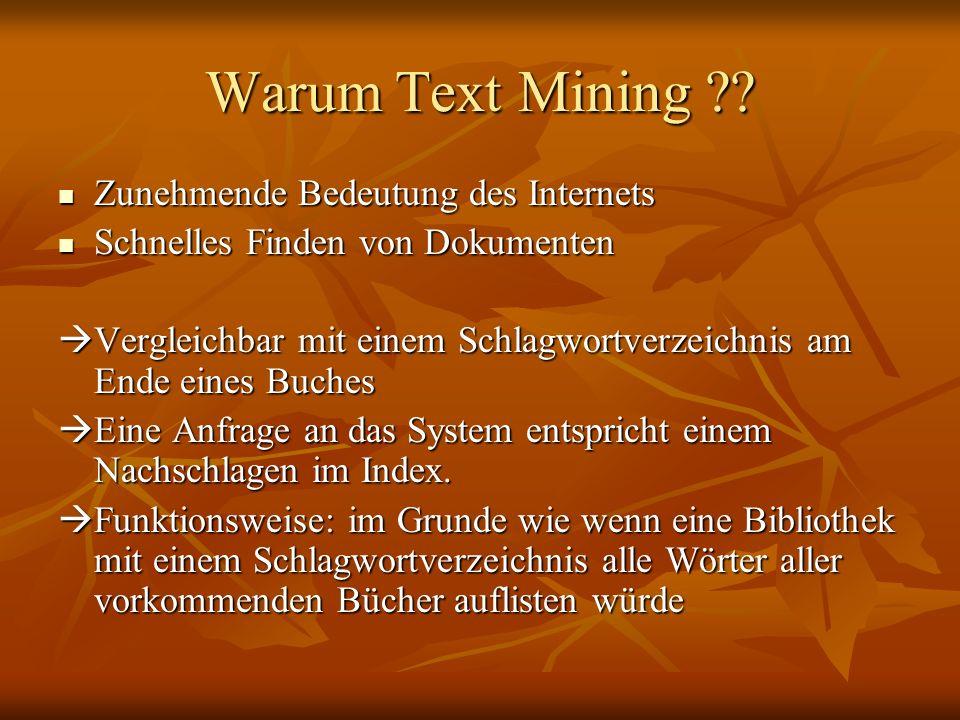 Warum Text Mining Zunehmende Bedeutung des Internets