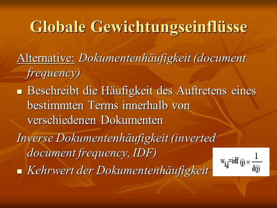 Globale Gewichtungseinflüsse