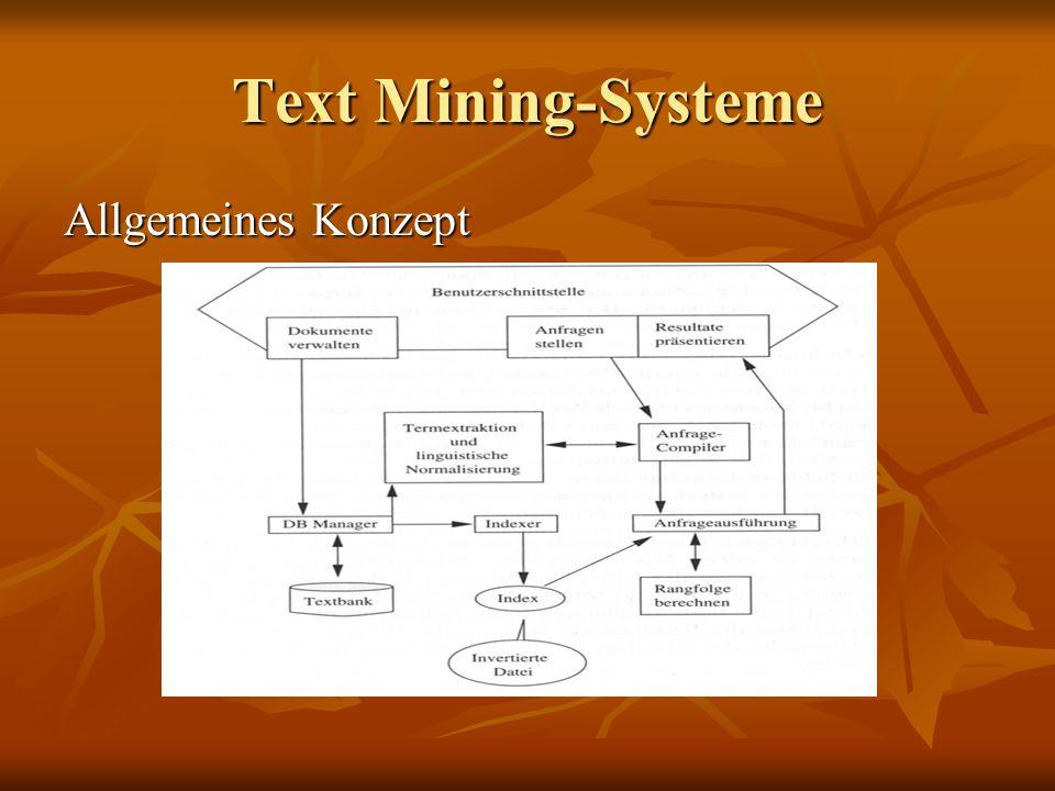 Text Mining-Systeme Allgemeines Konzept