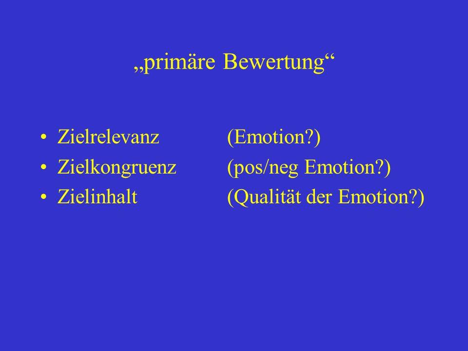 """""""primäre Bewertung Zielrelevanz (Emotion )"""