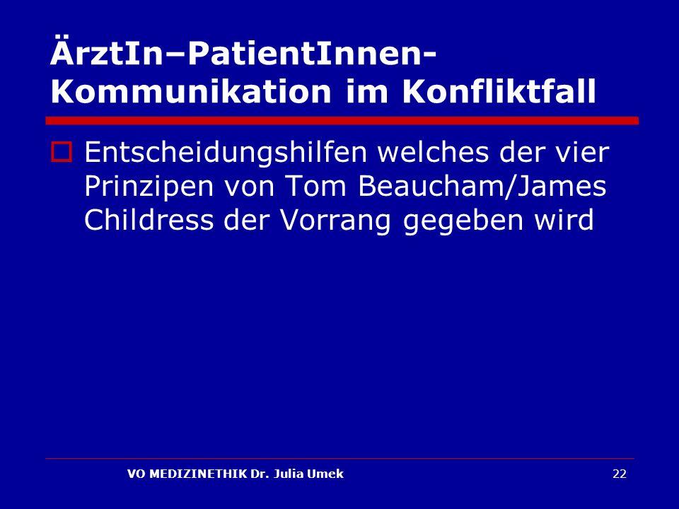 ÄrztIn–PatientInnen-Kommunikation im Konfliktfall