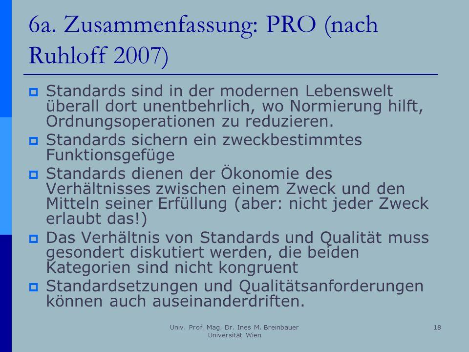 6a. Zusammenfassung: PRO (nach Ruhloff 2007)