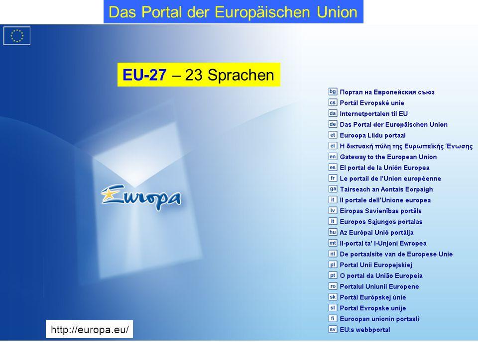 Das Portal der Europäischen Union