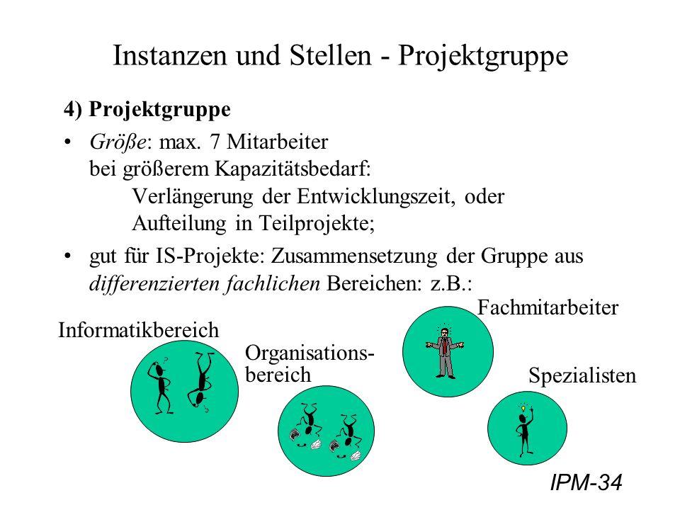 Instanzen und Stellen - Projektgruppe