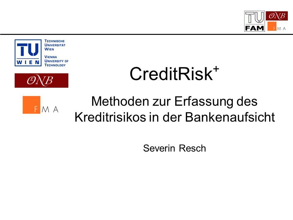 Methoden zur Erfassung des Kreditrisikos in der Bankenaufsicht