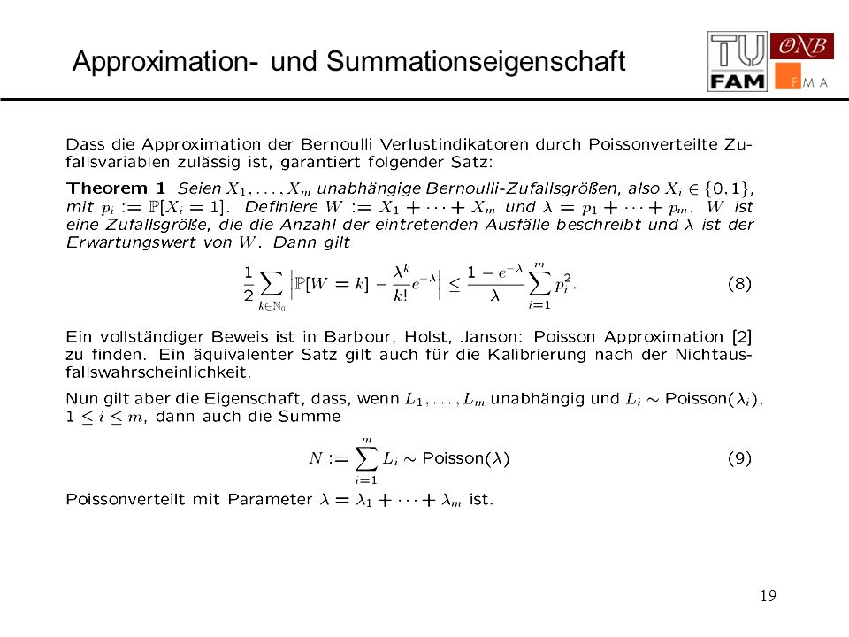 Approximation- und Summationseigenschaft