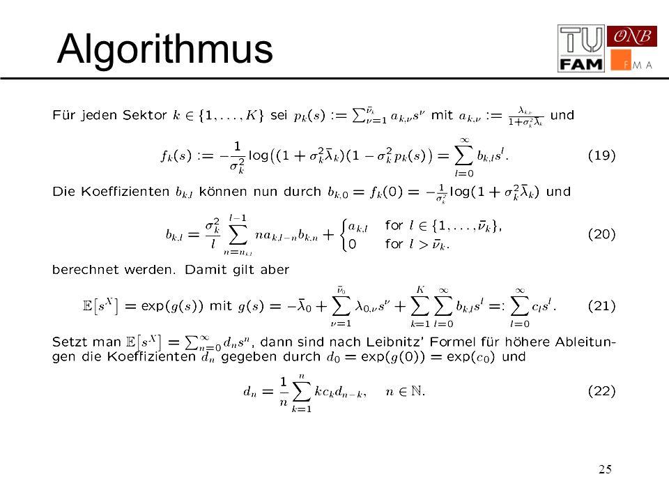 """Algorithmus Koeffizienten """"einfach ausrechnen"""