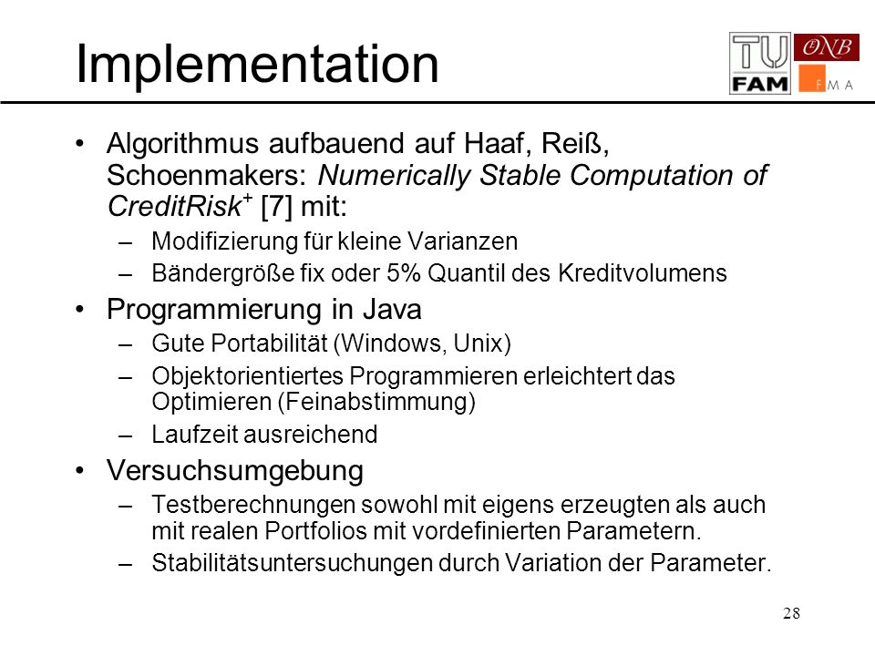 Implementation Vorlesen
