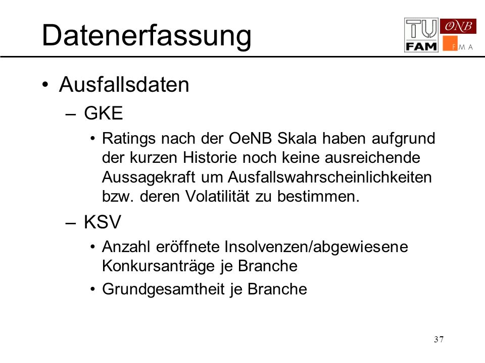 Datenerfassung Ausfallsdaten GKE KSV PD bestimmen: