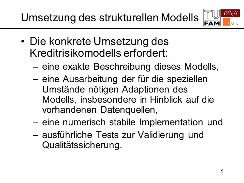 Umsetzung des strukturellen Modells
