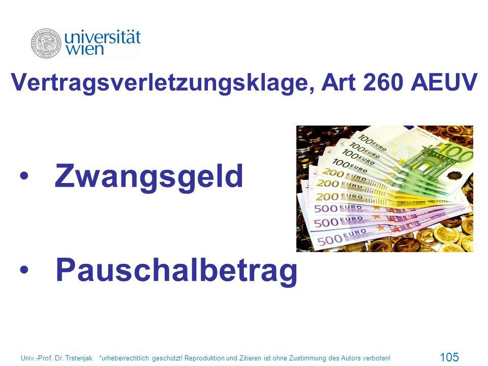 Vertragsverletzungsklage, Art 260 AEUV
