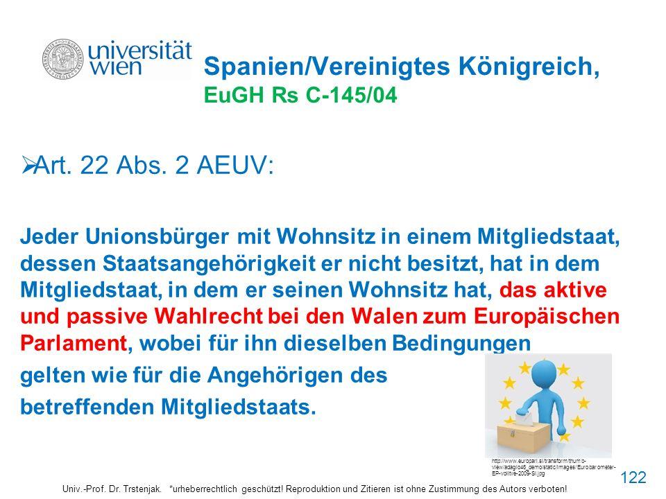Spanien/Vereinigtes Königreich, EuGH Rs C-145/04