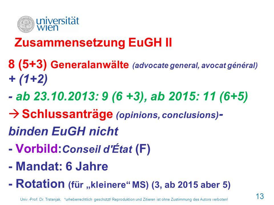 Zusammensetzung EuGH II