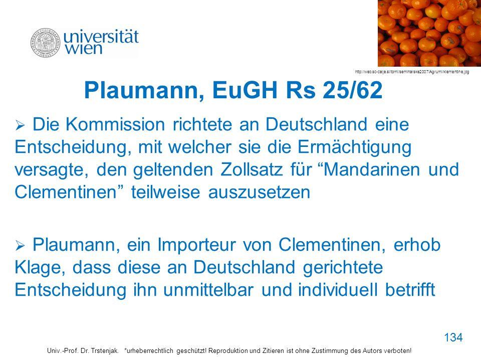 Plaumann, EuGH Rs 25/62 http://web.sc-celje.si/tomi/seminarske2007/Agrumi/klementine.jpg.